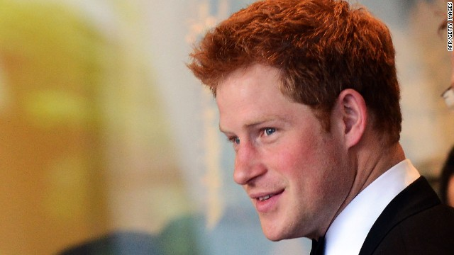 Britain's Prince Harry arrives for the Atlantic Council 2012 Annual Awards Dinner at a hotel in Washington on May 7, 2012