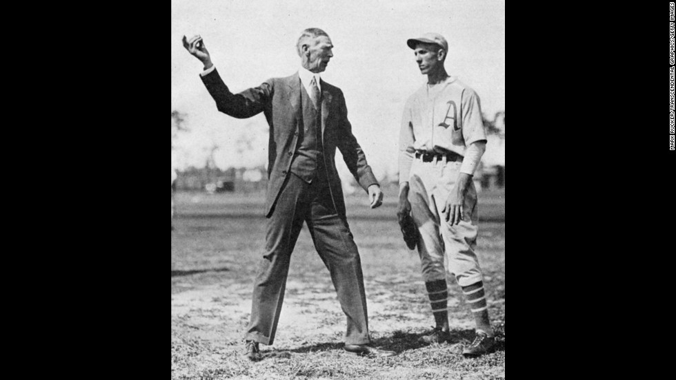 Connie Mack managed the Philadelphia Athletics, now based in Oakland, California, from 1901 until his retirement at age 88 in 1950.