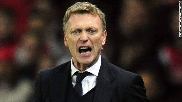 Manchester United's new manager David Moyes started work on Monday.