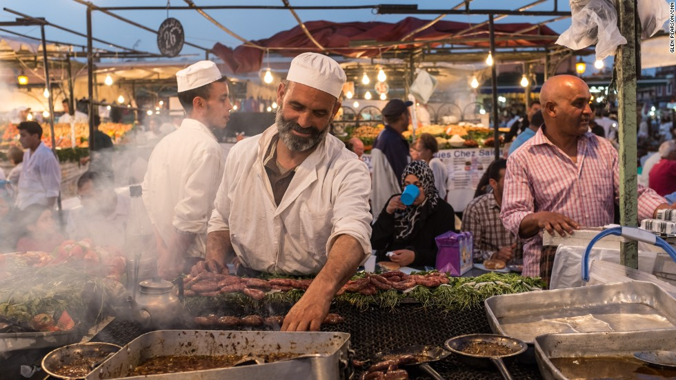 Marrakesh is the street food capital of Morocco, offering everything from camel spleen kebabs to deep-fried sesame cookies.