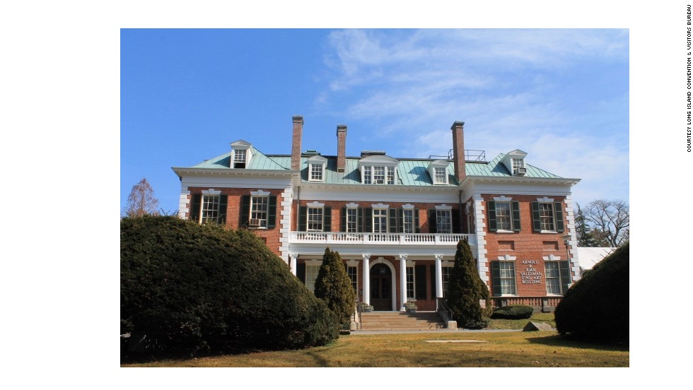 """Attorney, politician and editor Lloyd Stephens Bryce built this home overlooking Hempstead Harbor at the turn of the 20th century.  U.S. Steel magnate Henry Clay Frick purchased the house in 1919 as a gift for son Childs Frick. The three-story Georgian mansion now houses the <a href=""""http://www.nassaumuseum.com/history.php"""" target=""""_blank"""">Nassau County Museum of Art</a>."""