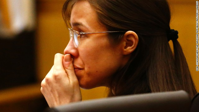Arias listens to defense attorney Kirk Nurmi make his closing arguments on May 3.