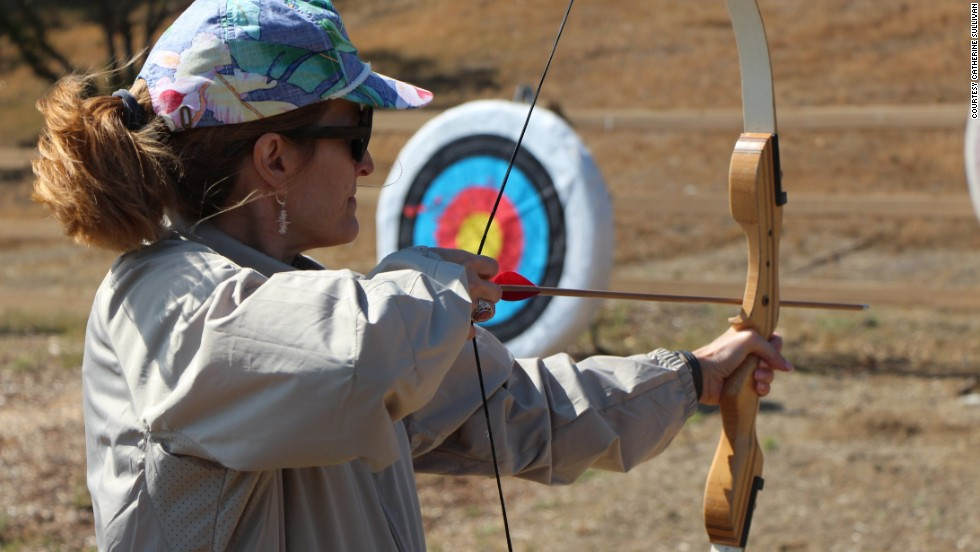 At Campowerment, women enjoy traditional camp activities such as archery.