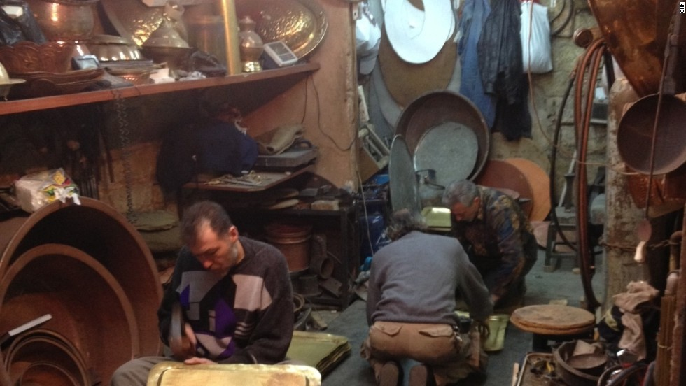 Founded in the 3rd millennium B.C , the heart of the ancient city is listed as an UNESCO World Heritage site. These family workshops in the back streets of the old city are very simple, but make everything from pots and trays to the tops of mosques.