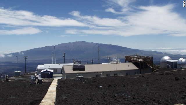 NOAA's Mauna Loa Observatory in Hawaii saw a new peak in carbon dioxide levels.