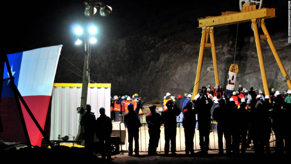 "After 69 harrowing days underground and a rescue mission costing up to $20 million, <a href=""http://www.cnn.com/SPECIALS/2010/chile.miners/index.html"" target=""_blank"">33 Chilean miners</a> are rescued on October 13, 2010. The mine collapsed on August 5, leaving the workers trapped 2,300 feet beneath the Earth's surface."
