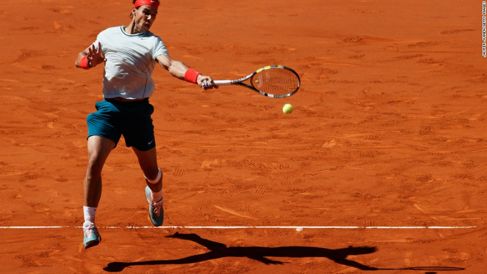 Rafael Nadal reached the men's final in Madrid for the fourth time, beating fellow Spaniard Pablo Andujar -- who made it to the semis after being given a wild-card entry into the tournament.
