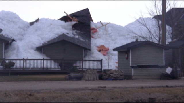 Ice wave destroys homes