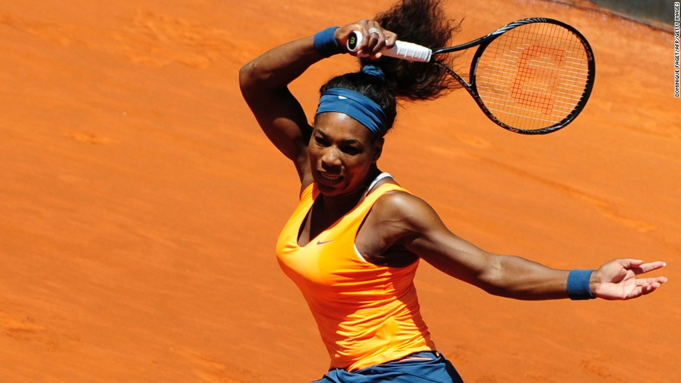 Williams has now beaten the Russian in their last 12 meetings, winning this match 6-1 6-4.