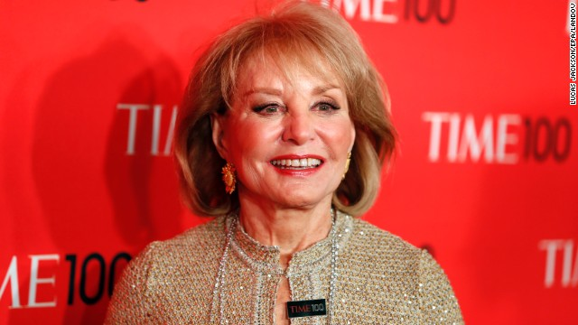Image #: 22098645    Journalist Barbara Walters arrives for the Time 100 gala celebrating the magazine's naming of the 100 most influential people in the world for the past year, in New York, April 23, 2013. REUTERS/Lucas Jackson (UNITED STATES - Tags: ENTERTAINMENT MEDIA)       REUTERS /LUCAS JACKSON /LANDOV
