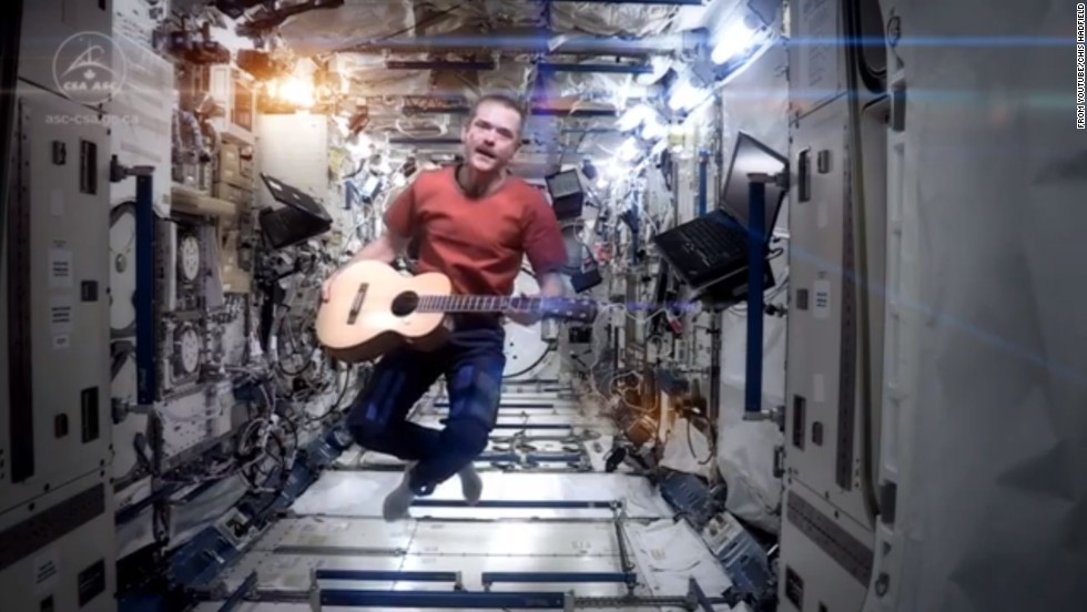 "Many space fans already know about Chris Hadfield, a Canadian Space Agency astronaut who just spent five months aboard the International Space Station. He's a bit of a social media star, with hundreds of thousands of fans on Facebook and <a href=""https://twitter.com/Cmdr_Hadfield"" target=""_blank"">Twitter</a>. But his rendition of <a href=""https://www.youtube.com/watch?v=4NX9ucLRJX8"" target=""_blank"">David Bowie's ""Space Oddity""</a> is propelling him to further heights. The <a href=""https://www.youtube.com/watch?v=4NX9ucLRJX8"" target=""_blank"">viral video</a> is the latest of his many popular posts. Click through the gallery to see some other things Hadfield has shared via Twitter with the people of Earth, where he was scheduled to return the night of Monday, May 13."