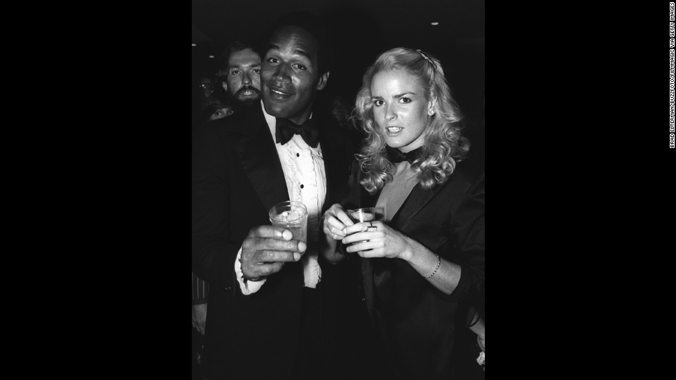 SImpson married Nicole Brown Simpson in 1985. Here the couple appear at a Los Angeles nightclub around 1976.