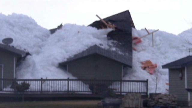 An 'ice tsunami' destroys homes
