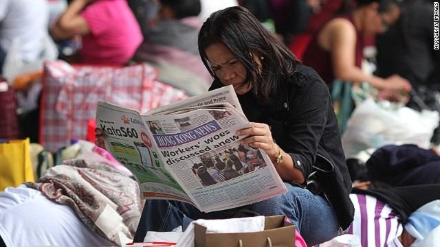 Hong Kong is facing a shortage of foreign domestic helpers from the region