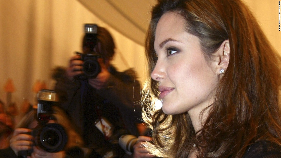"Jolie attends the German premiere of ""Alexander"" in December 2004."