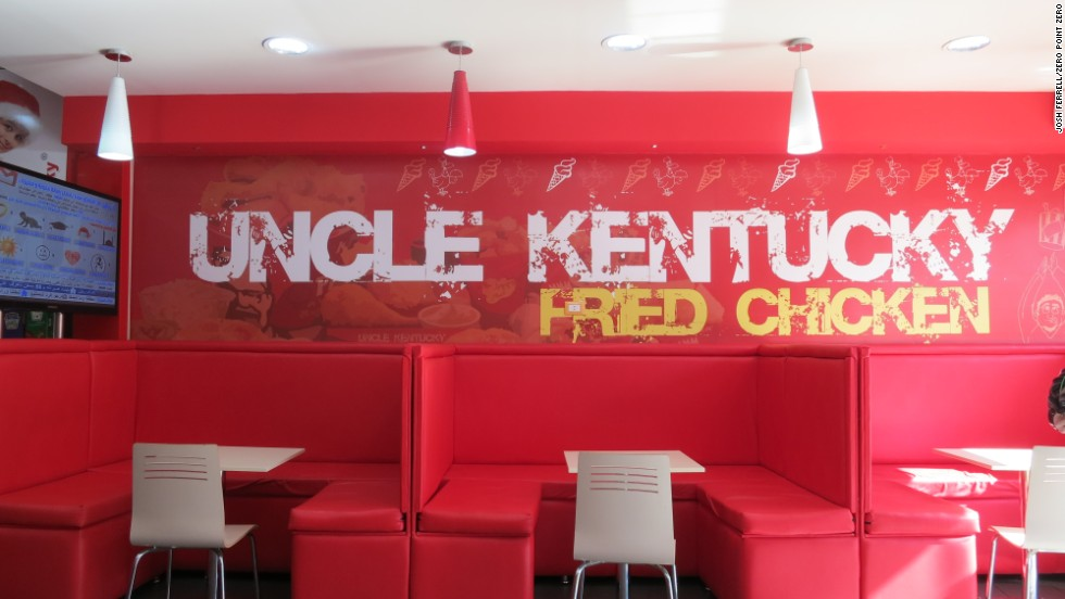 Uncle Kentucky (aka Uncle Kentaki) bears a striking resemblance to a certain fast food chain that features a colonel and a secret recipe.