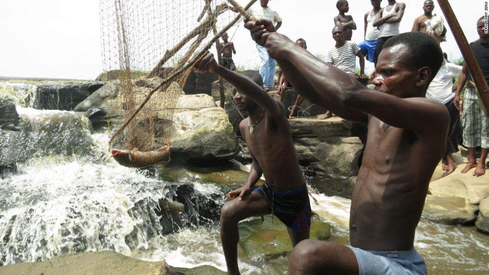 "Wagenia tribesmen fish the rapids on the Congo River. ""It is the most relentlessly f***ed-over nation in the world, yet it has long been my dream to see Congo. And for my sins, I got my wish,"" <a href=""http://www.cnn.com/video/shows/anthony-bourdain-parts-unknown/episode8/"">Bourdain said</a>."