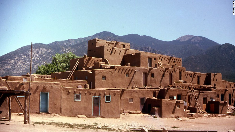 Two and a half hours northwest of Albuquerque, New Mexico, the Taos Pueblo is a village of adobe buildings that has been continually occupied by Native Americans for more than a thousand years.