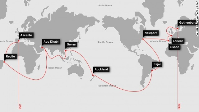 Click: Volvo Ocean Race route