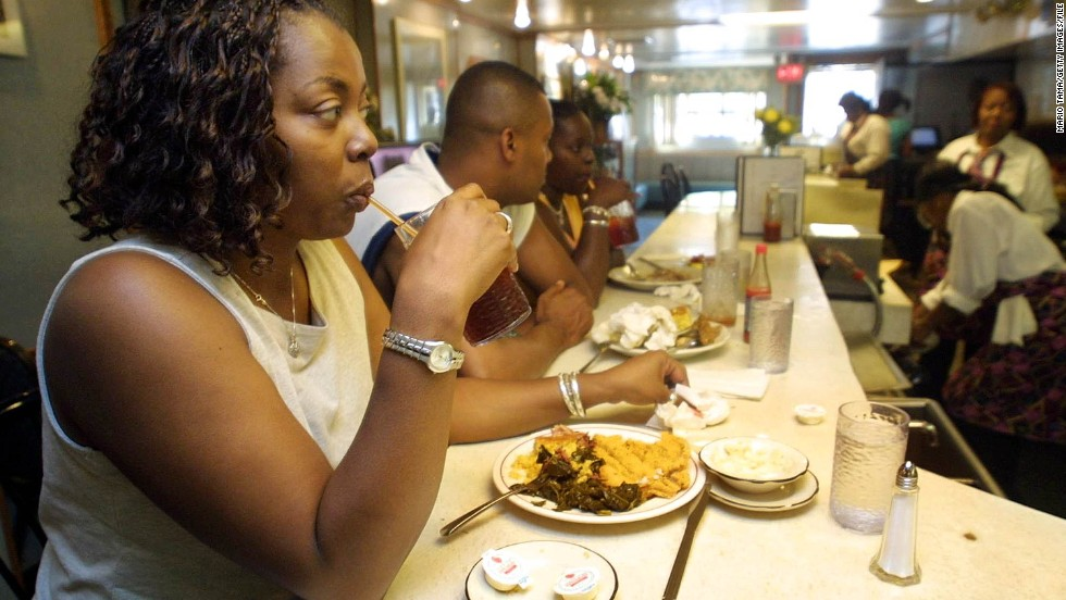 Soul food makes the list because it's delicious, unapologetically artery-clogging and it brings us face to face with our turbulent past. Sylvia's in New York (pictured) may be the most well known.