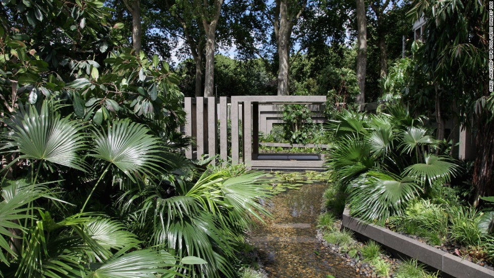 Many of Chelsea's gardens showcase styles from around the world, such as this Tourism Malaysia Garden in 2011