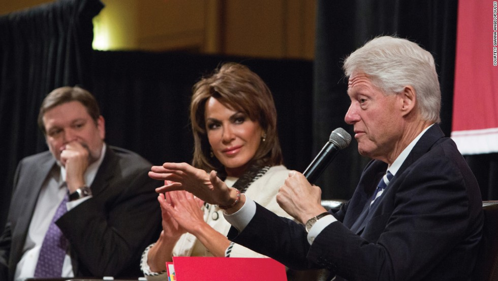 Angelopoulos, who now works with the Clinton Global Initiative, with former U.S. president Bill Clinton at Harvard University
