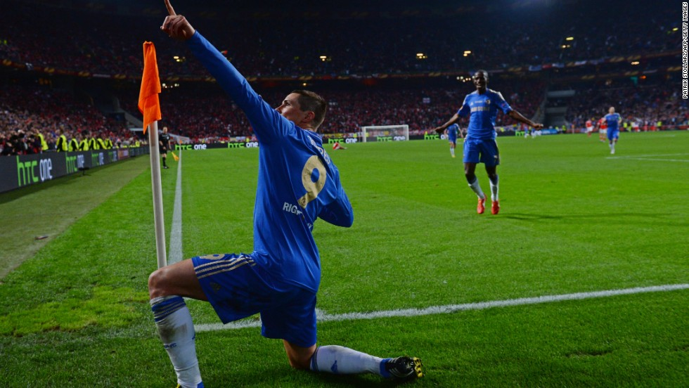 Torres then pulled off his best impression of Usain Bolt as the Chelsea players began to celebrate.