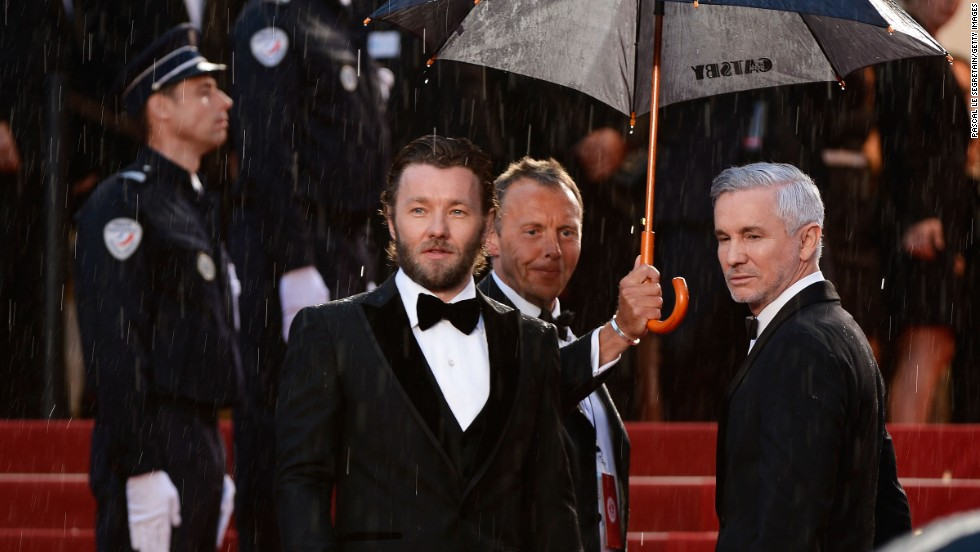 "Joel Edgerton and Baz Luhrmann at ""The Great Gatsby"" premiere."