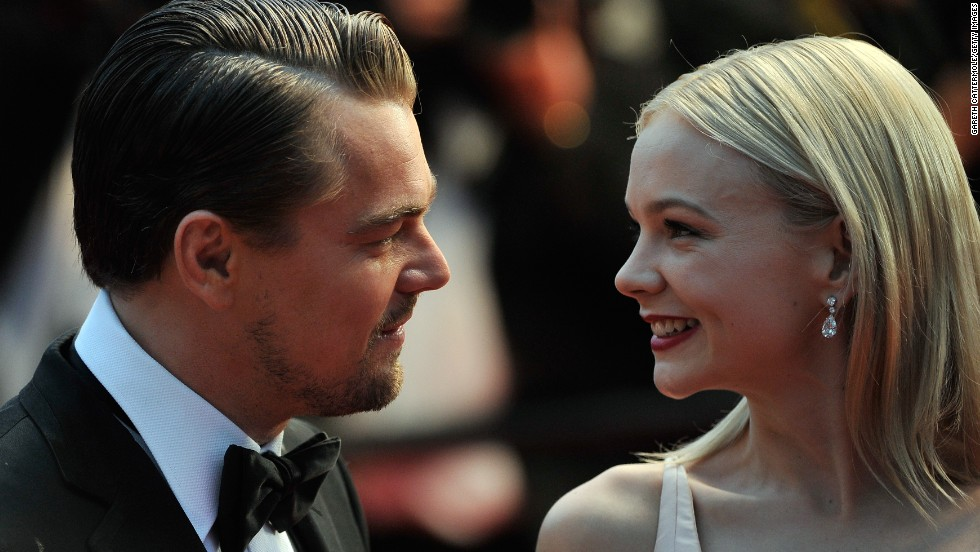 "Leonardo DiCaprio and Carey Mulligan at ""The Great Gatsby"" premiere."