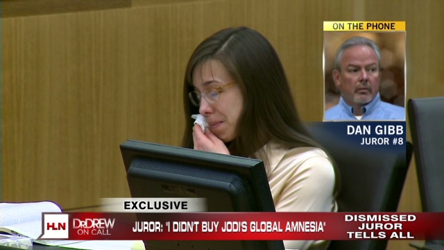Arias juror 8 upset over dismissal