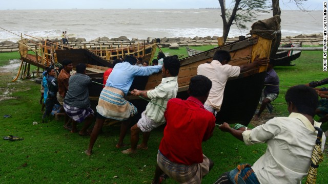 Tropical Cyclone Mahasen makes landfall