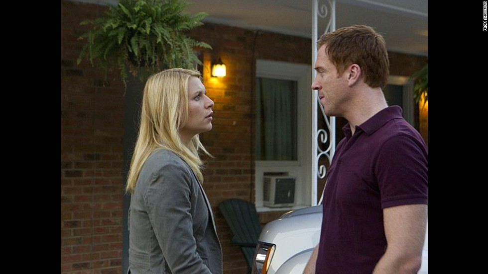 "Claire Danes' Carrie Mathison on ""Homeland"" sets out to pursue Damian Lewis' Nicholas Brody as a suspect before their affair begins."