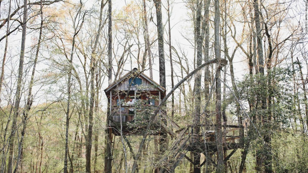 Go rustic at the Edisto River Treehouses in Canadys, South Carolina.