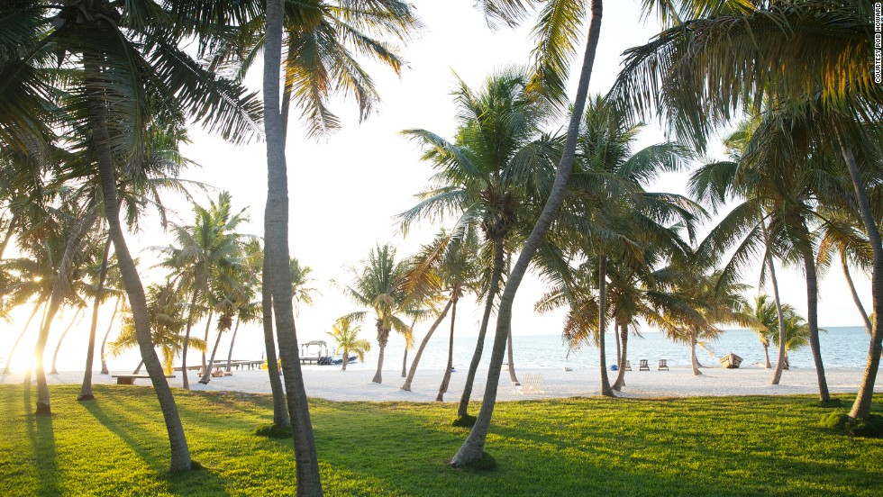 The Moorings is located on a former coconut plantation and offers private beach access to its guests.