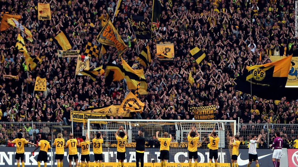 German clubs are famed for being well run, creating a good atmosphere at games, with Dortmund's Westfalenstadion a case in point. Cheap tickets for standing areas play a large part in that, and Dortmund's players make a point of thanking their supporters after every game.