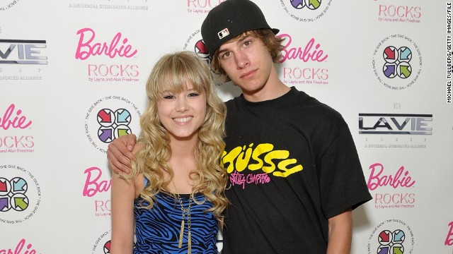 "Actor Dylan Patton, right, attends a 2009 benefit concert with his ""Days of Our Lives"" co-star at the time, Taylor Spreitler."