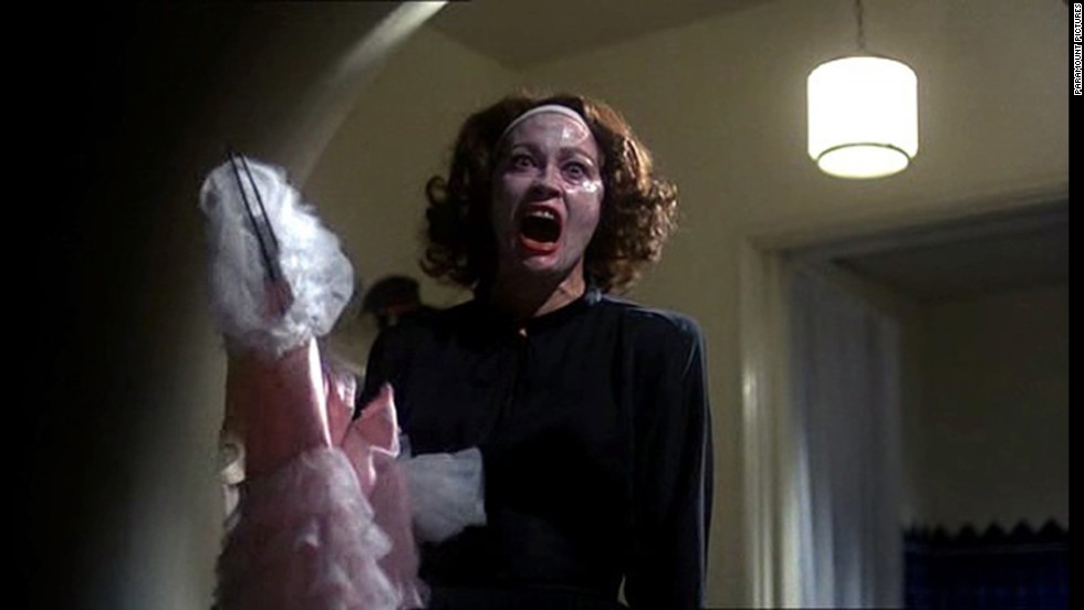 "Faye Dunaway's interpretation of Joan Crawford in 1981's ""Mommie Dearest"" was deliciously unnerving. The movie was based on a memoir of the same name by Crawford's adopted daughter, Christina, and it put us off wire hangers to this day."