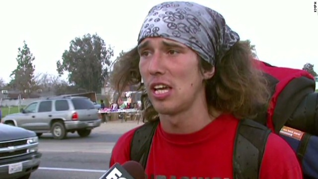 Hatchet-wielding hitchhiker arrested