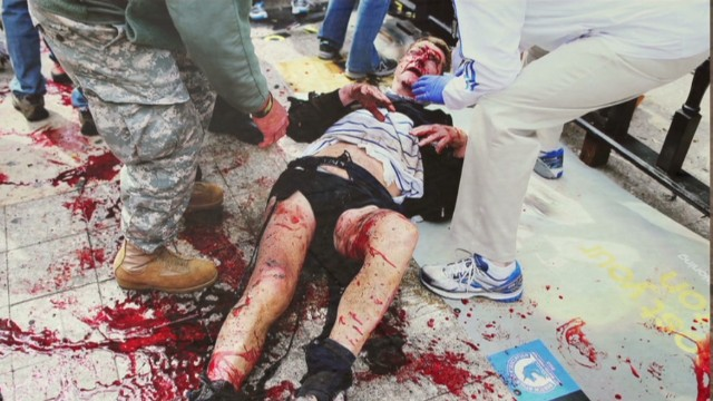 Photos show horror of Boston bombings