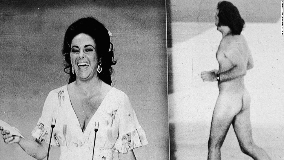 "At the 1974 Academy Awards, streaker Robert Opel raced across the stage, prompting presenter and movie star David Niven to quip: ""Isn't it fascinating to think that probably the only laugh that man will ever get in his life is for stripping off and showing his shortcomings."""