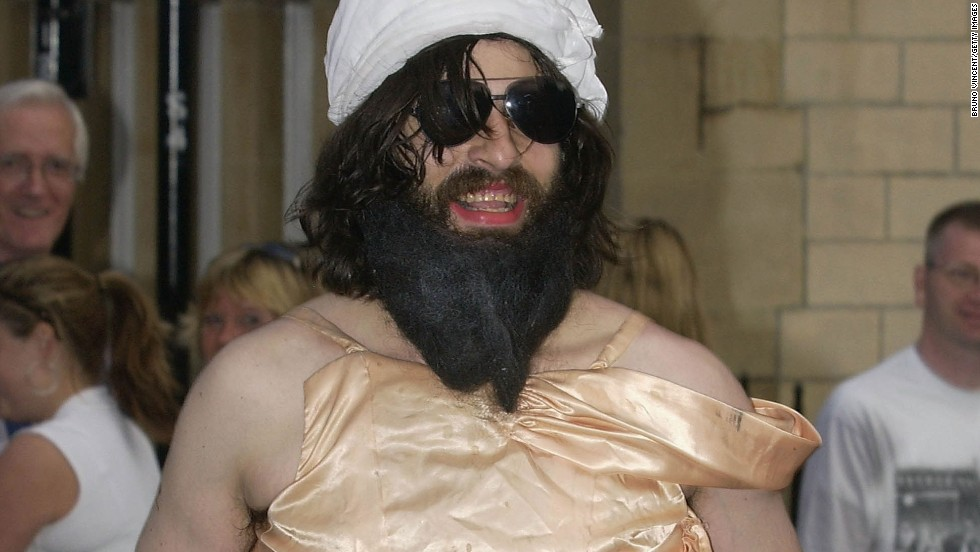 "In 2003, self-described ""comedy terrorist"" Aaron Barschak gatecrashed Prince Harry's 21st birthday party at royal residence Windsor Castle, in southern England, wearing a pink ball gown and fake Osama bin Laden turban and beard."
