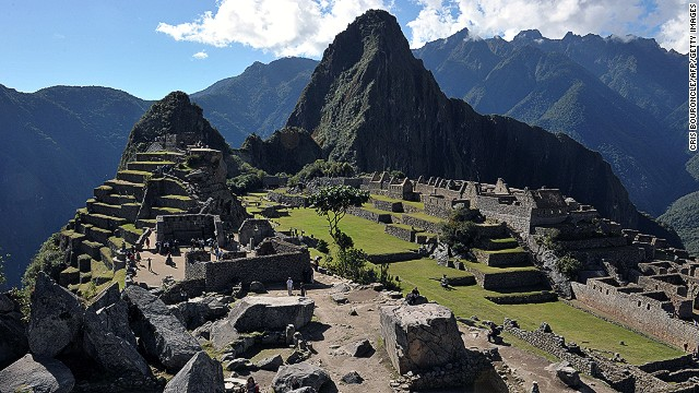 Machu Picchu citadel, 130 km northwest of Cusco, Peru