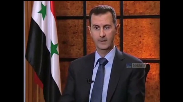 Rare al-Assad interview