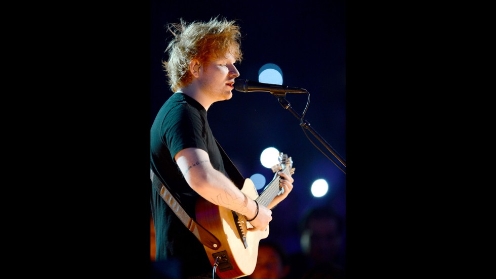 Ed Sheeran performs.