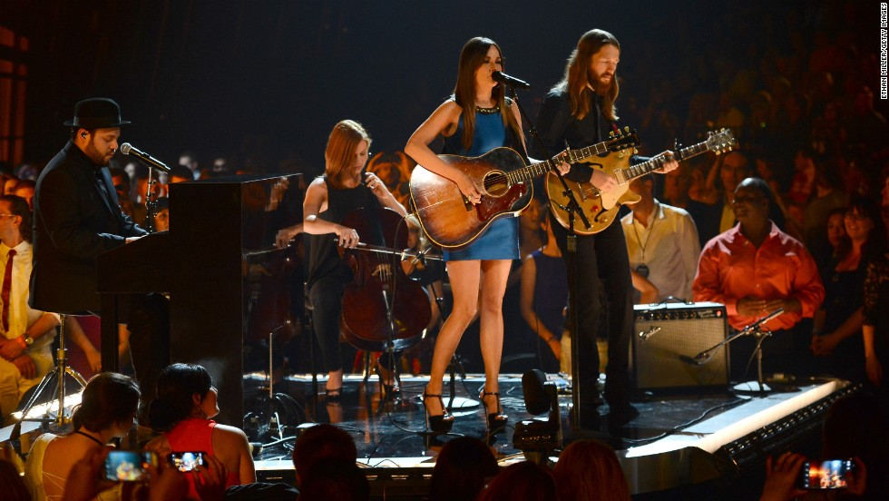 Kacey Musgraves performs.