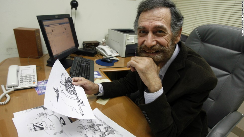 Ferzat began drawing at a relatively young age. His cartoons have been published internationally. He's convinced he will return to his country one day.