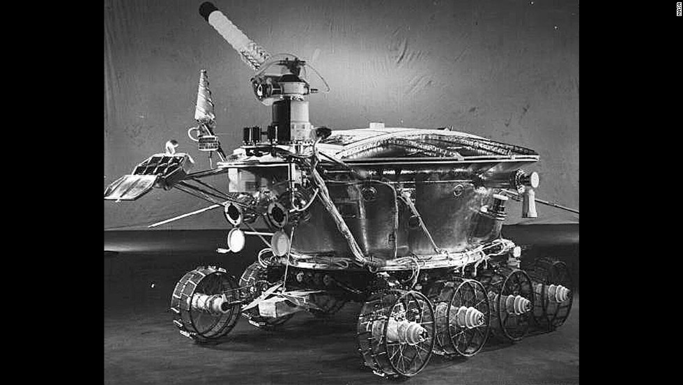 The Soviets' Lunokhod 1, the first unmanned rover, landed on the moon on November 17, 1970.
