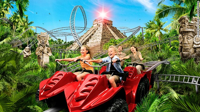 The Jewel in Denmark features off-roading on all-terrain vehicles through a Mayan jungle on a quest for lost treasure.