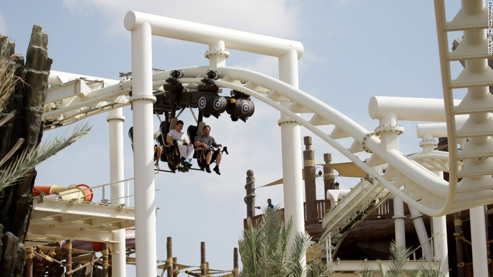 A number of terrifying new rides are opening around the world this year. Abu Dhabi's newest coaster is the perfect summer screamer. Each seat comes equipped with water bombs. Yep, that's a world first.