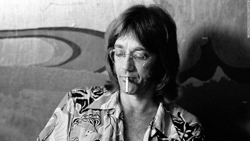Manzarek is interviewed in the dressing room at Richard's Rock Club in Atlanta on May 18, 1974. He continued to work as a musician after The Doors disbanded following Morrison's death in 1971.